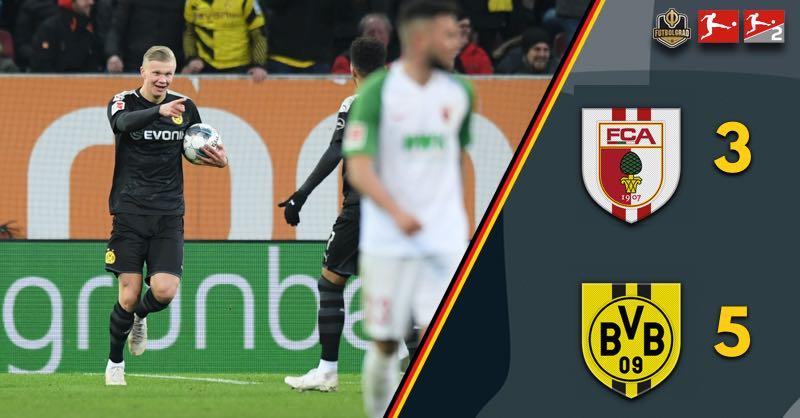 Hattrick hero Erling Haaland rescues Dortmund against Augsburg