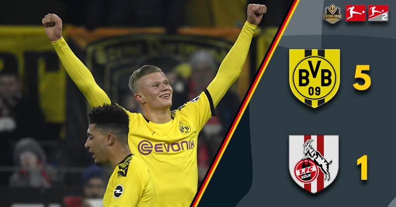 Jadon Sancho and Erling Braut Haaland power Borussia Dortmund past Köln