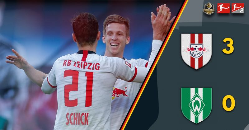 RB Leipzig smash Werder and keep up pressure on Bayern