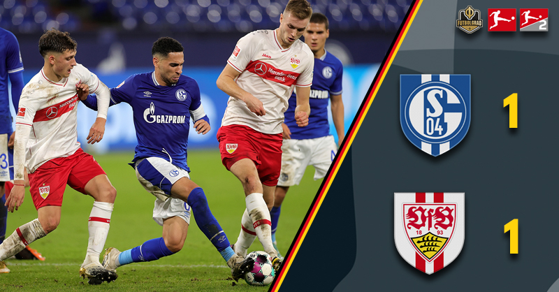 Schalke finally find their heart but Stuttgart prove a tough opponent as Friday night ends all square