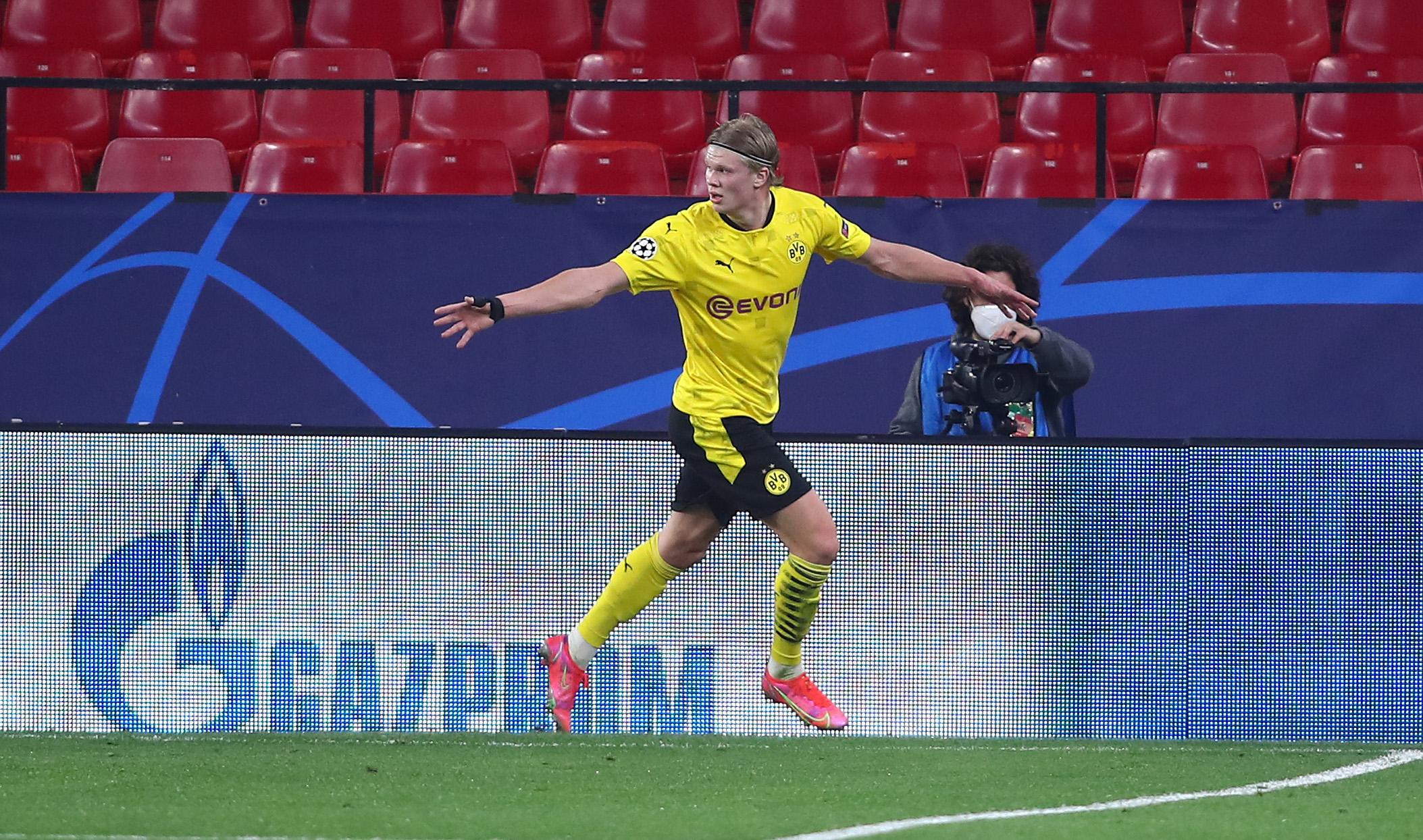 Erling Haaland - Sevilla vs Dortmund