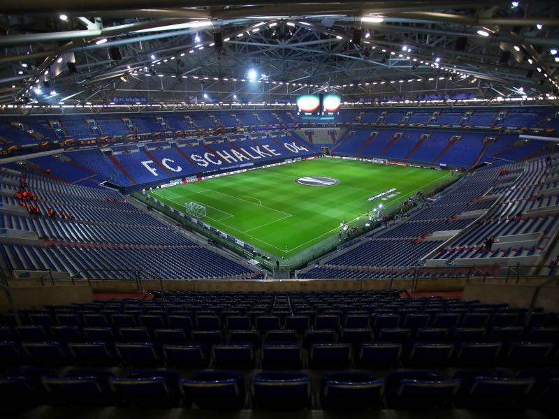 Schalke vs Dortmund will take place in the Arena Auf Schalke. (Photo by Alex Grimm/Bongarts/Getty Images)