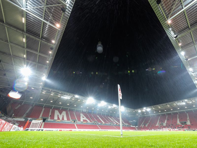 Mainz vs Bayern Munich will take place at the Opel Stadium in Mainz. (Photo by Simon Hofmann/Bongarts/Getty Images)