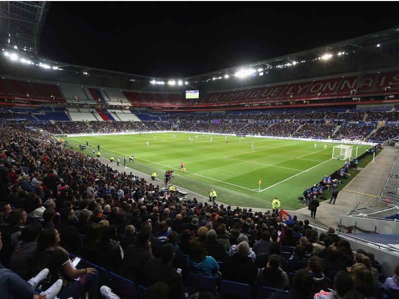 Lyon vs Leipzig will take place in the Stade de Lyon. (Photo by Christopher Lee/Getty Images)