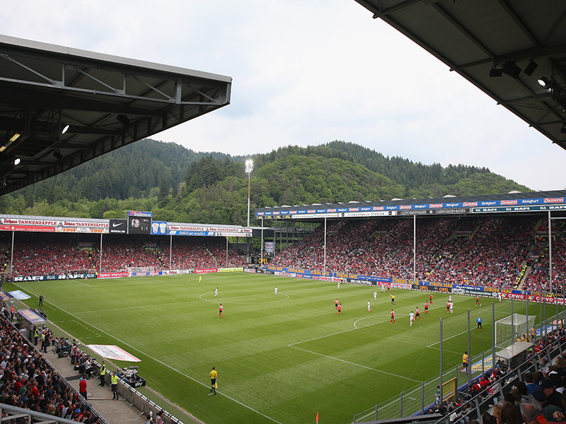 SC Freiburg vs Dortmund will take place at the Schwarzwald Stadion in Freiburg. (Photo by Alexander Hassenstein/Bongarts/Getty Images)