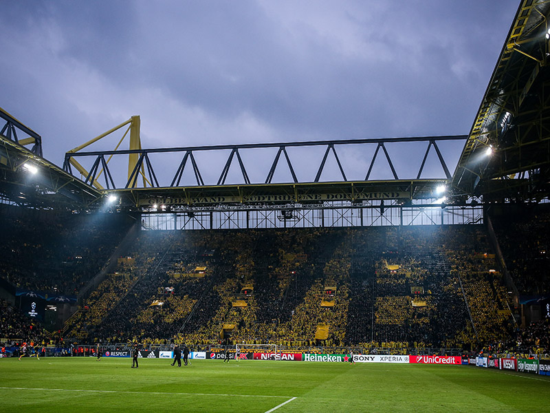 Borussia Dortmund vs Barcelona will take place at the SIGNAL IDUNA PARK in Dortmund. (Photo by Maja Hitij/Bongarts/Getty Images)