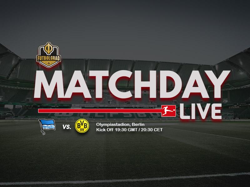 Hertha Berlin vs Borussia Dortmund – Bundesliga Live