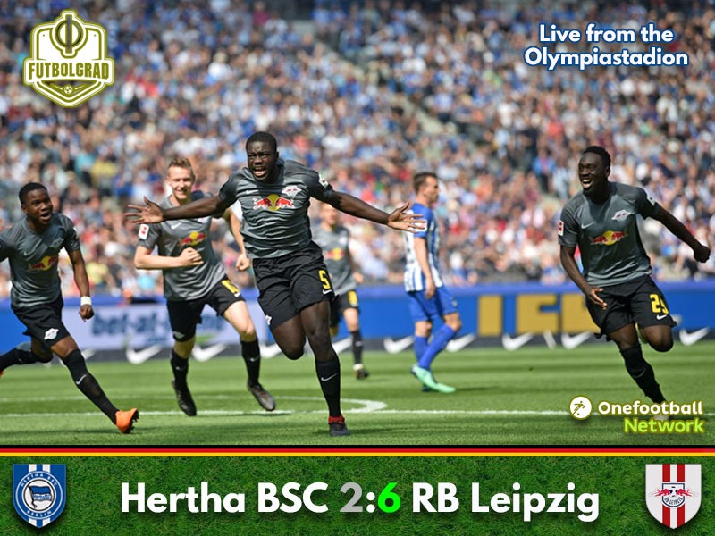 Leipzig dominate Hertha to seal their Europa League spot