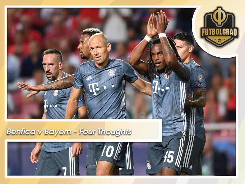 Benfica v Bayern München – Four Thoughts