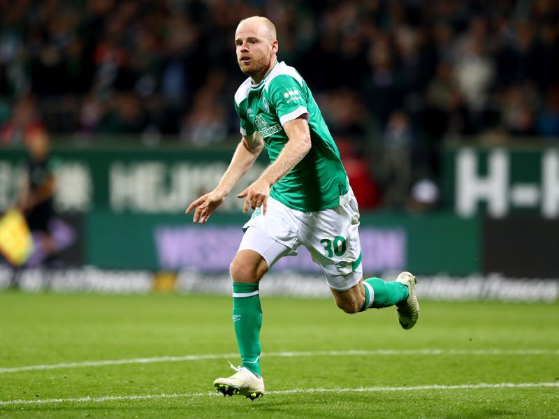 Davy Klaassen of Bremen runs during the Bundesliga match between SV Werder Bremen and Hertha BSC at Weserstadion on September 25, 2018 in Bremen, Germany. (Photo by Martin Rose/Bongarts/Getty Images)