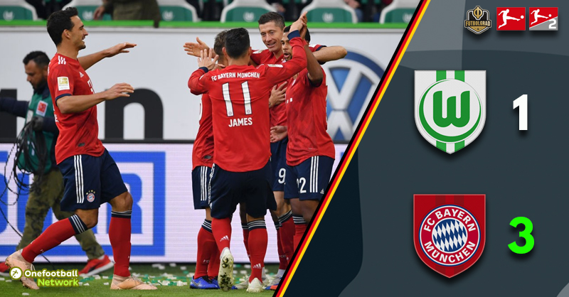 Bayern back on track after a convincing victory over Wolfsburg