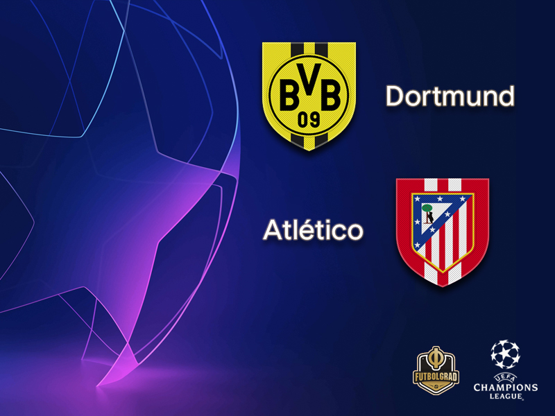 Borussia Dortmund want to pass the test against Spanish powerhouse Atlético Madrid