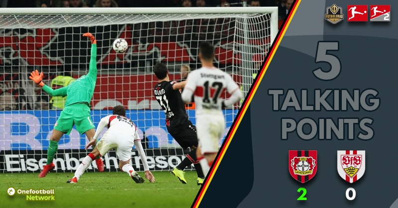 Leverkusen back to winning ways as Stuttgart slump to yet another defeat
