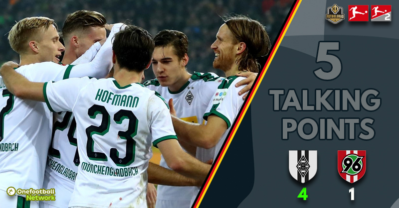 Gladbach come from behind to beat Hannover – Five thoughts from Gladbach v Hannover