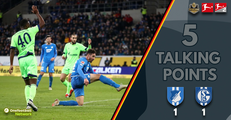 Penalty drama and an interesting tactical battle – Five Talking Points from Hoffenheim vs Schalke