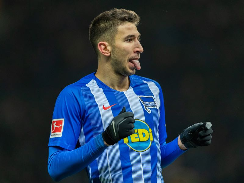 Marko Grujic Marko Grujic of Hertha BSC reacts during the Bundesliga match between Hertha BSC and FC Schalke 04 at Olympiastadion on January 25, 2019 in Berlin, Germany. (Photo by Boris Streubel/Bongarts/Getty Images)