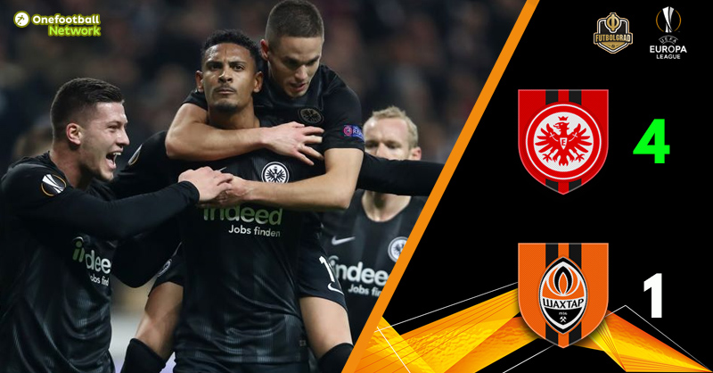 Eintracht Frankfurt continue to soar and bury Shakhtar Donetsk
