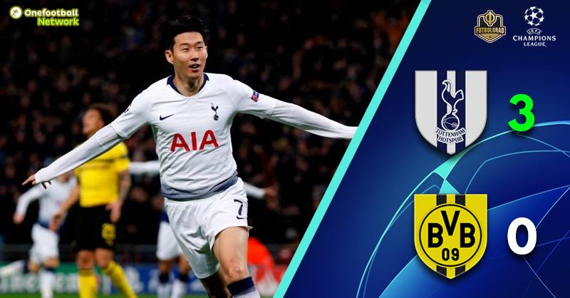 Tottenham crush Dortmund and are all but through