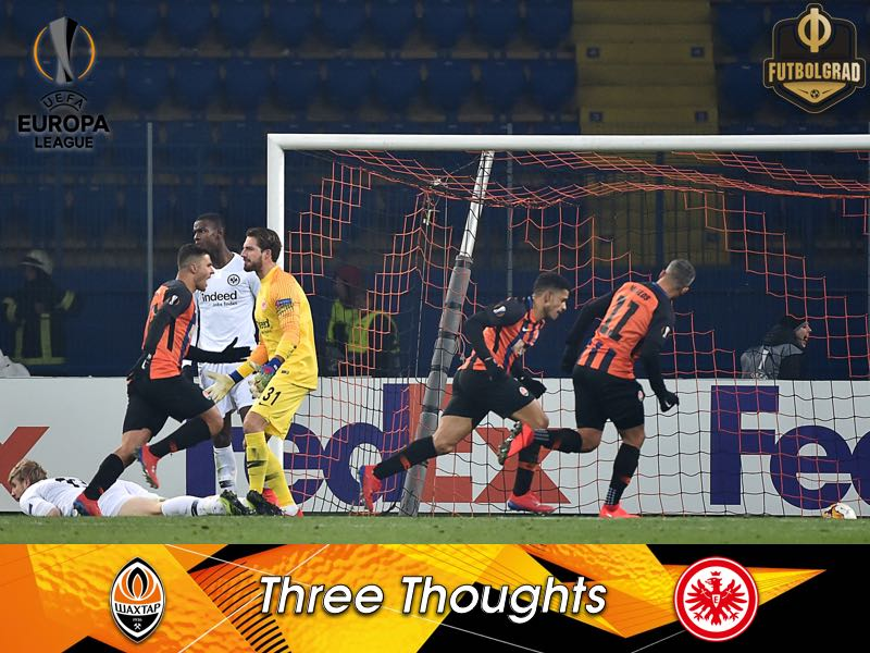 A wild start, refereeing and travelling fans – Thoughts from Shakhtar v Frankfurt