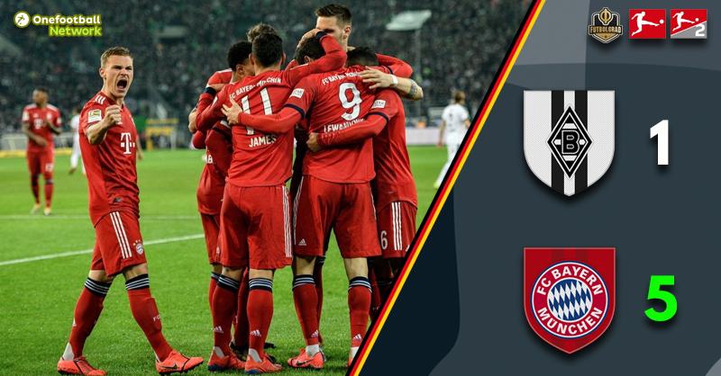 Bayern thrash Gladbach as the Bundesliga title race fires into life