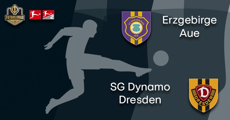 Erzgebirge Aue host Dynamo Dresden in the Sachsenderby
