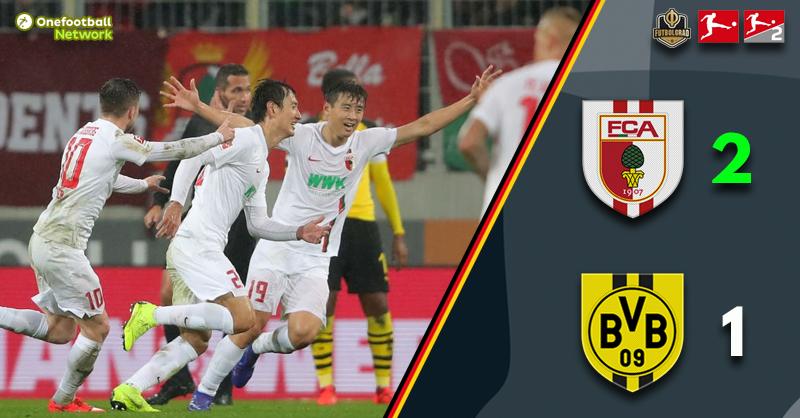 Dong-Won Ji scores twice as Augsburg shock Borussia Dortmund