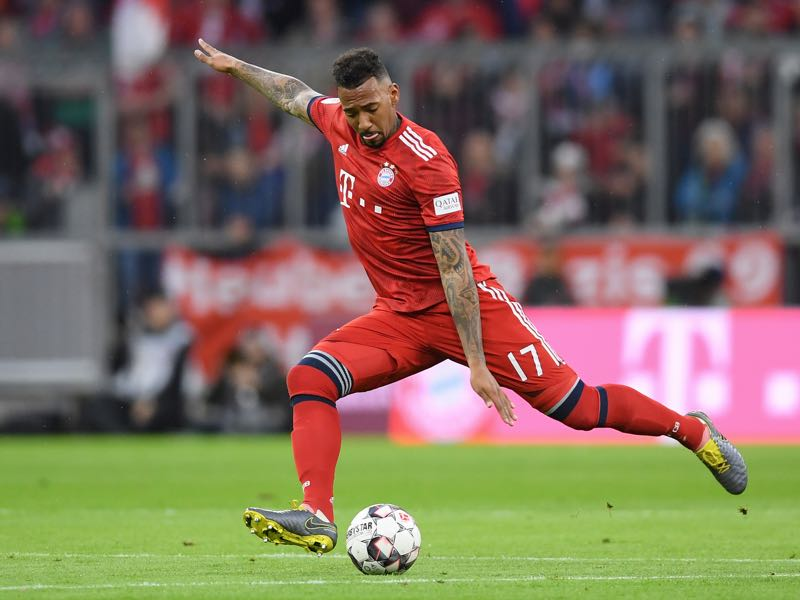 Jérôme Boateng of FC Bayern München in action during the Bundesliga match between FC Bayern Muenchen and 1. FSV Mainz 05 at Allianz Arena on March 17, 2019 in Munich, Germany. (Photo by Christian Kaspar-Bartke/Bongarts/Getty Images)