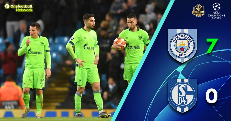 Seventh Heaven for ManCity as they beat Schalke 7-0