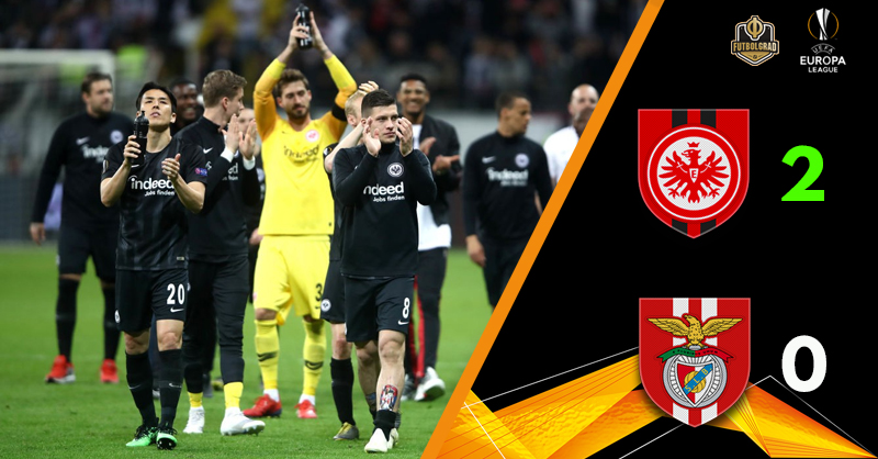 Eintracht Frankfurt turn it around against Benfica to advance