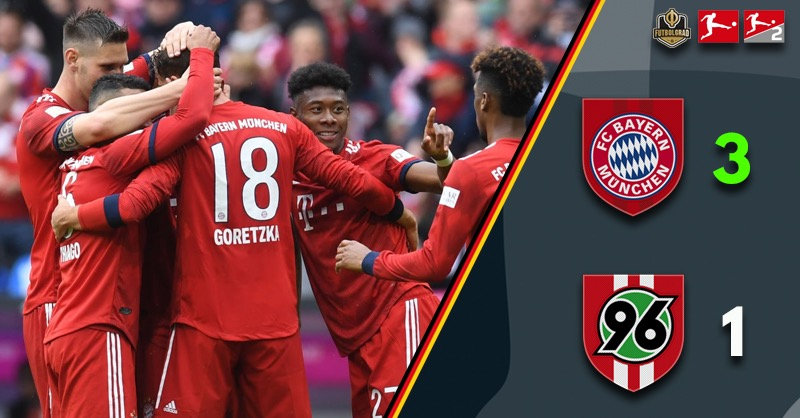 Despite small wobble, Bayern dismantle Hannover