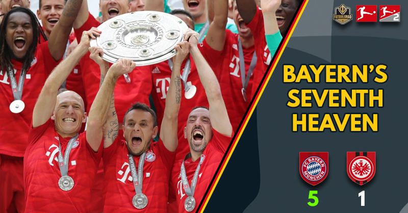 Seventh heaven as Bayern greats bow out in style