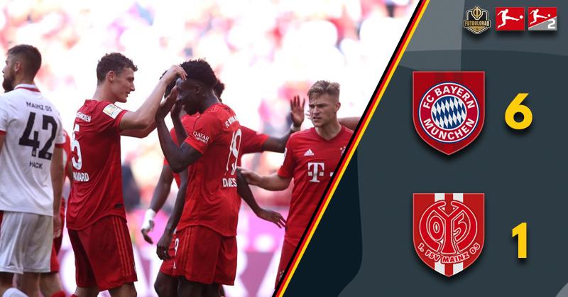 Alphonso Davies scores, Bayern Munich hammer Mainz