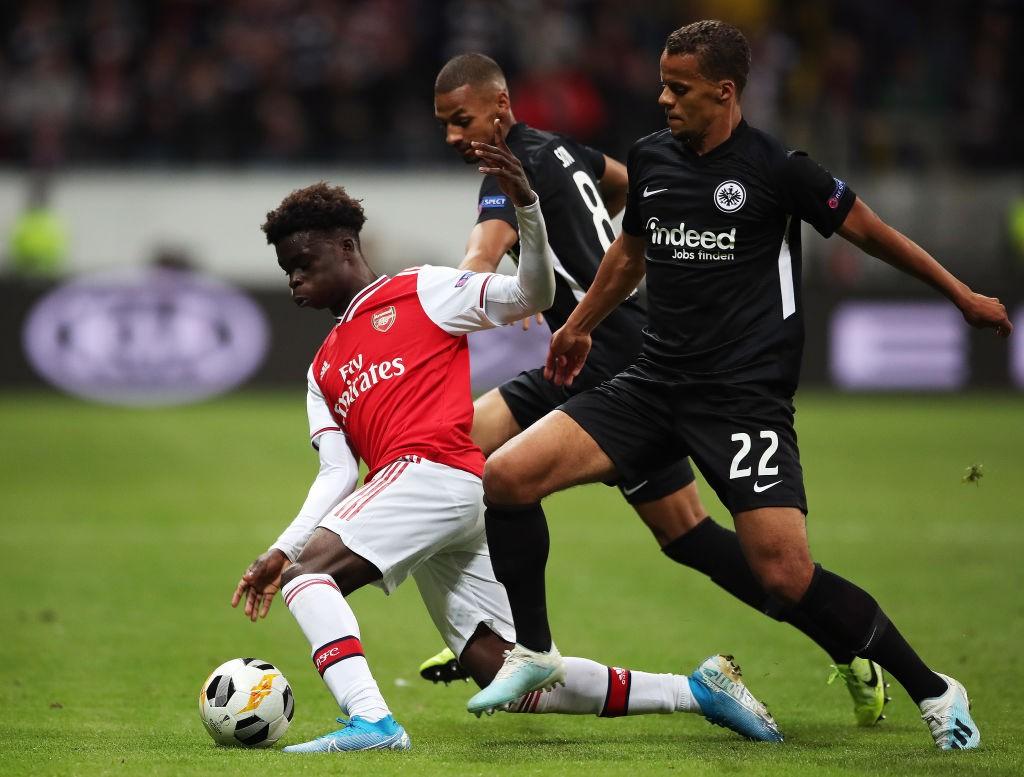 Bukayo Saka - Eintracht Frankfurt v Arsenal