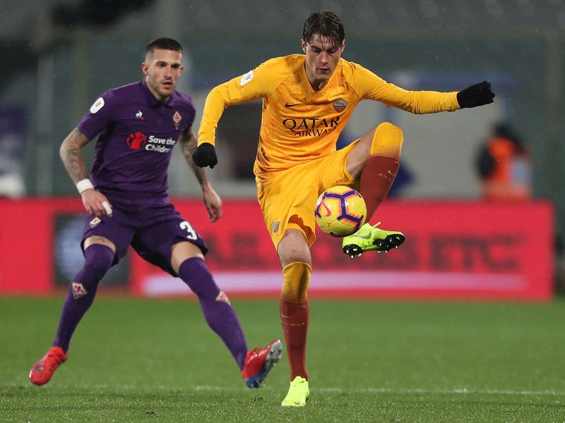 Patrick Schick of AS Roma in action during the Coppa Italia match between ACF Fiorentina and AS Roma at Stadio Artemio Franchi on January 30, 2019 in Florence, Italy. (Photo by Gabriele Maltinti/Getty Images)