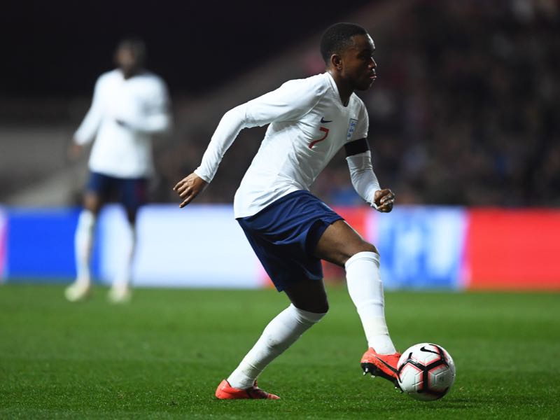 Ademola Lookman of England during the U21 International Friendly match between England and Poland at Ashton Gate on March 21, 2019 in Bristol, England. (Photo by Harry Trump/Getty Images)