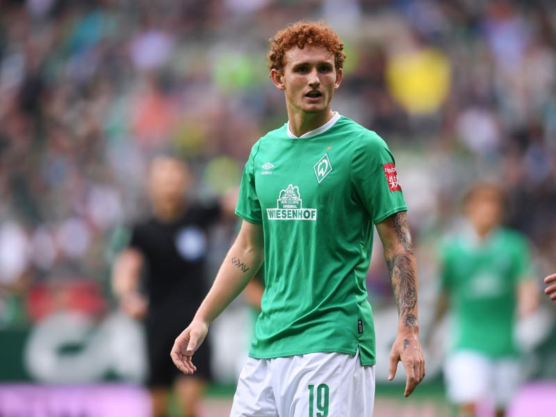 Josh Sargent of Werder Bremen looks dejected during the Bundesliga match between SV Werder Bremen and Fortuna Duesseldorf at Wohninvest Weserstadion on August 17, 2019 in Bremen, Germany. (Photo by Oliver Hardt/Bongarts/Getty Images)