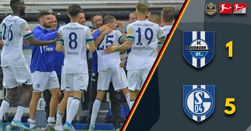 Second-half Schalke provide Paderborn with a five-star showing