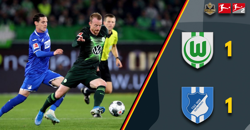 Hoffenheim hold Wolfsburg to 1-1 draw at the Volkswagen Arena