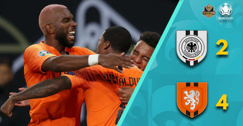 Wijnaldum on fire, Netherlands beat Germany 4-2