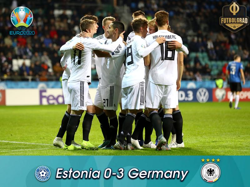Down a man, Germany secure three points against Estonia