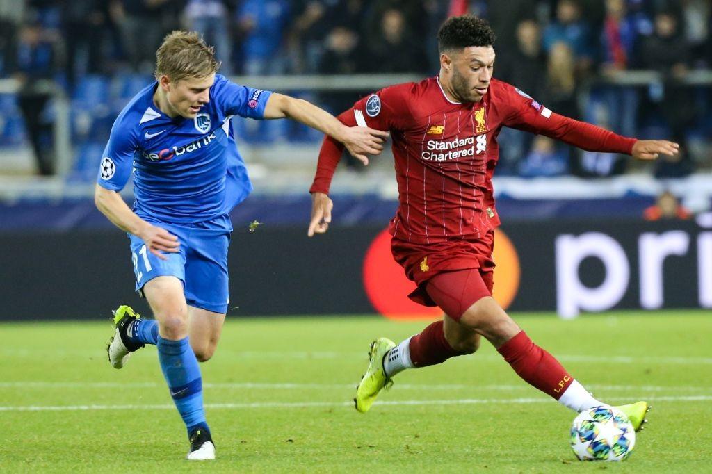 Oxlade-Chamberlain Genk vs Liverpool