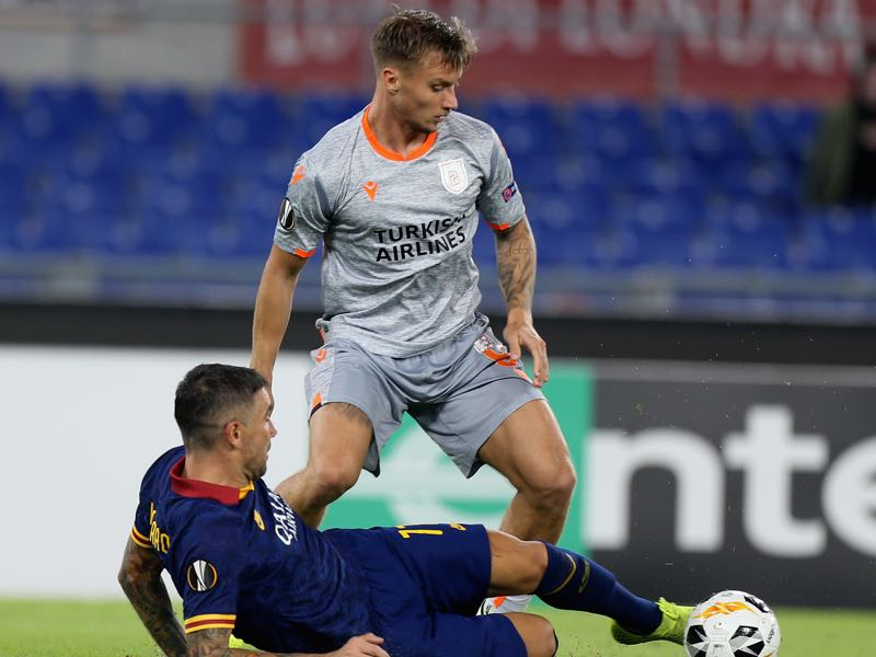 Fredrik Gulbrandsen of Istanbul Basaksehir F.K. during the UEFA Europa League group J match between AS Roma and Istanbul Basaksehir F.K. at Stadio Olimpico on September 19, 2019 in Rome, Italy. (Photo by Paolo Bruno/Getty Images)