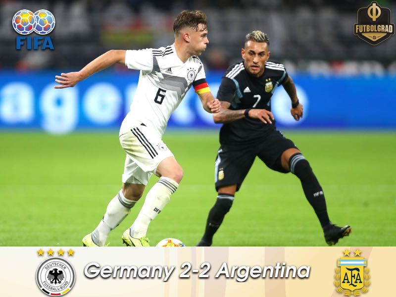 Germany squander two goal lead, draw Argentina 2-2