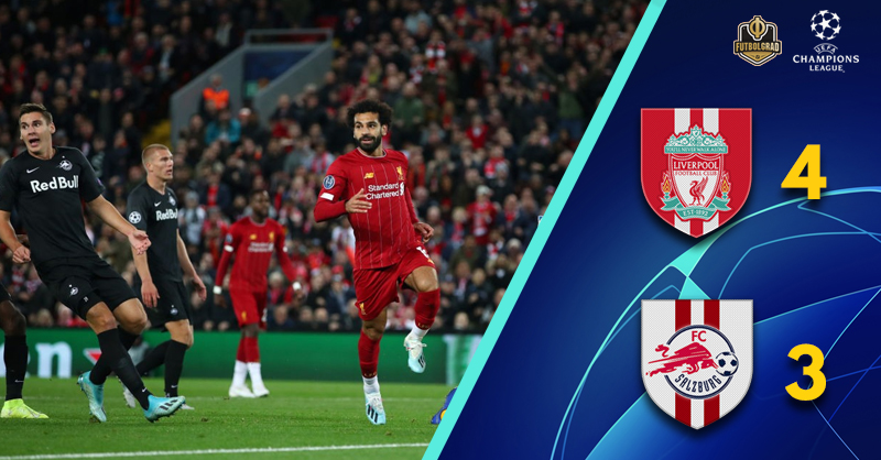 Salzburg give Liverpool a massive scare at Anfield