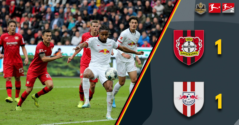 Bayer Leverkusen RB Leipzig in exciting 1-1 draw at the BayArena