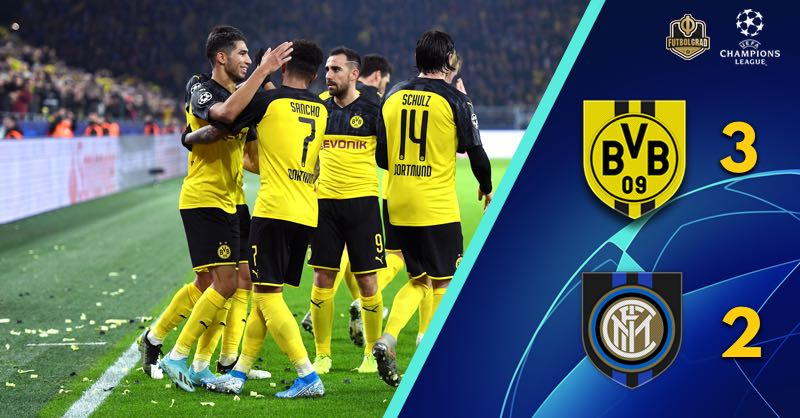 Achraf Hakimi leads Borussia Dortmund to comeback victory over Inter Milan