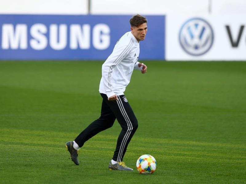 Niklas Stark of Germany in action during a Germany international training session ahead of their international friendly against Serbia at AOK Stadium on March 18, 2019 in Wolfsburg, Germany. (Photo by Martin Rose/Bongarts/Getty Images)