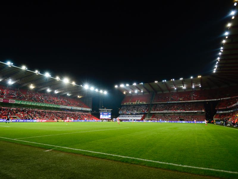 Standard Liege vs Krasnodar will take place at the Stade Maurice Dufrasne in Liege,Belgium. (Photo by Laurie Dieffembacq/Belga Photo/EuroFootball/Getty Images)