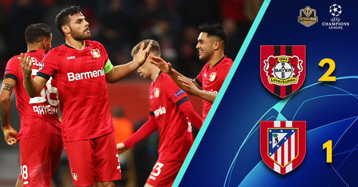 Kevin Volland leads Leverkusen to victory over Atlético Madrid
