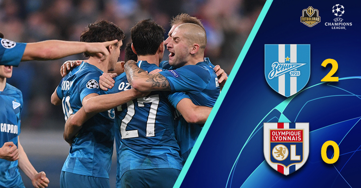 Zenit v Olympique Lyon – Champions League – Report